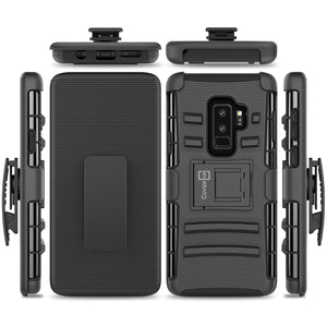 Samsung Galaxy S9 Plus Holster Case - Hybrid Case with Belt Clip - Explorer Series
