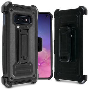 Samsung Galaxy S10e Holster Case Spectra Series Protective Kickstand Phone Cover with Rotating Belt Clip