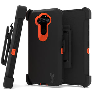 LG Phoenix 5 / Fortune 3 Holster Case - Heavy Duty Shockproof Case with Belt Clip