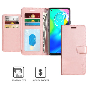 Motorola Moto E (2020) Wallet Case - RFID Blocking Leather Folio Phone Pouch - CarryALL Series