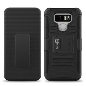 LG G6 / G6 Plus Holster Case - Hybrid Case with Belt Clip - Explorer Series
