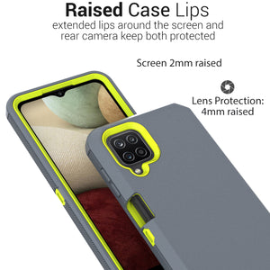 Samsung Galaxy A12 5G Holster Case - Heavy Duty Shockproof Case with Belt Clip