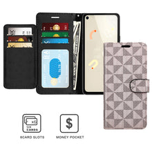 Load image into Gallery viewer, Google Pixel 4a Wallet Case - RFID Blocking Leather Folio Phone Pouch - CarryALL Series