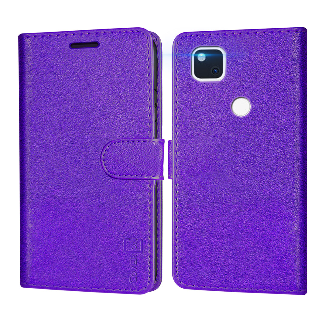 Google Pixel 4a Wallet Case - RFID Blocking Leather Folio Phone Pouch - CarryALL Series