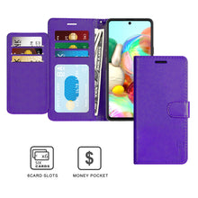 Load image into Gallery viewer, Samsung Galaxy A71 Wallet Case - RFID Blocking Leather Folio Phone Pouch - CarryALL Series