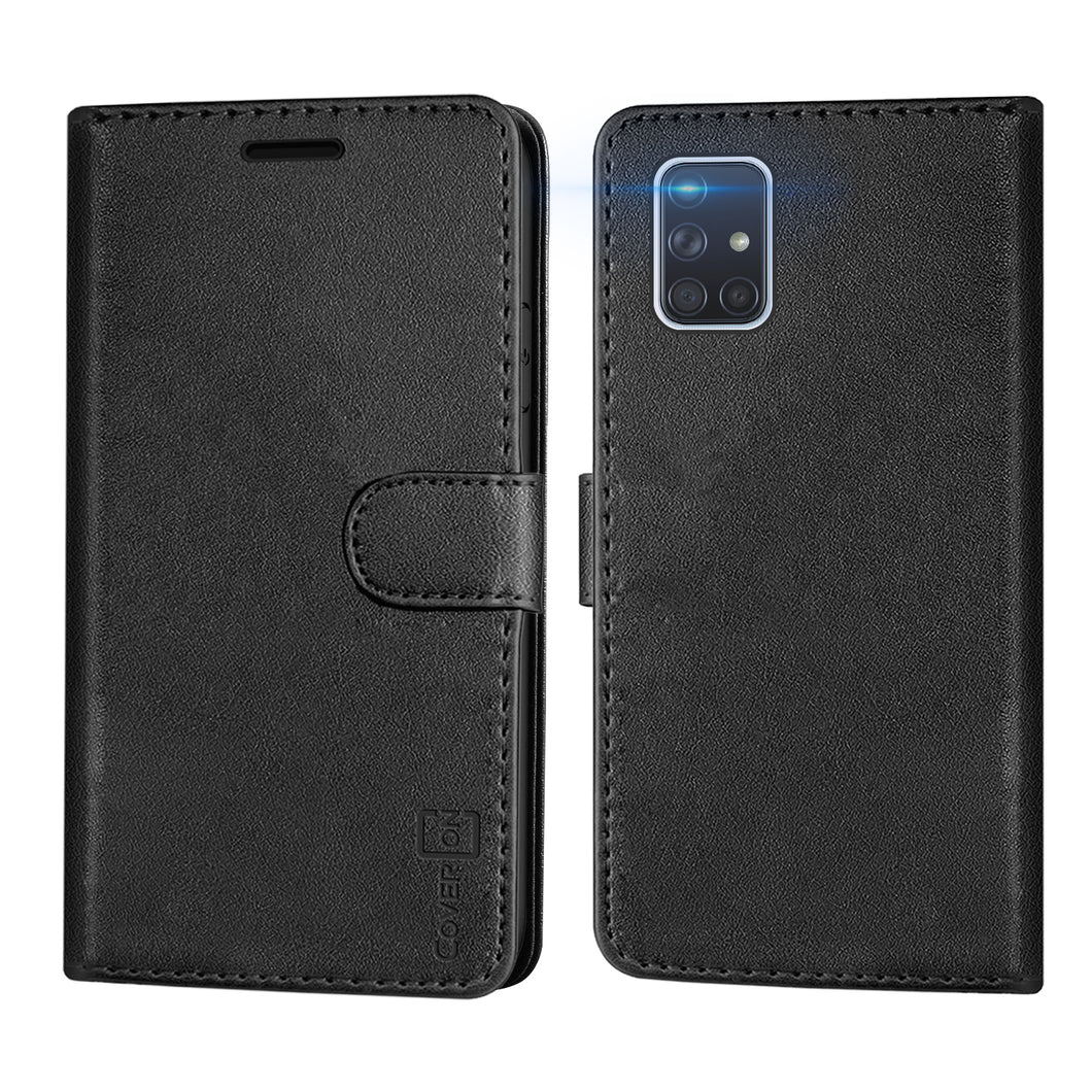 Samsung Galaxy A71 Wallet Case - RFID Blocking Leather Folio Phone Pouch - CarryALL Series