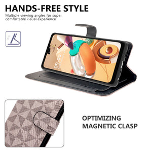 LG K51 / Reflect Wallet Case - RFID Blocking Leather Folio Phone Pouch - CarryALL Series