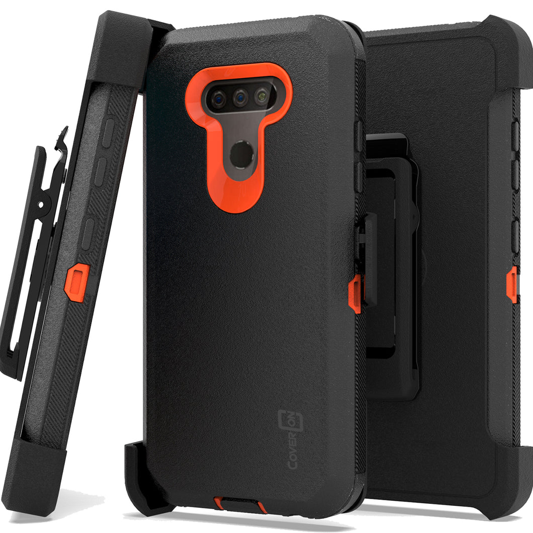 LG Harmony 4 / Premier Pro Plus / Xpression Plus 3 Holster Case - Heavy Duty Shockproof Case with Belt Clip