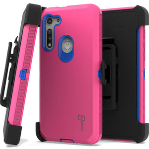 Motorola Moto G Fast Holster Case - Heavy Duty Shockproof Case with Belt Clip