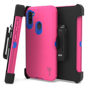 Samsung Galaxy A11 Holster Case - Heavy Duty Shockproof Case with Belt Clip