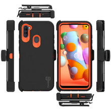 Load image into Gallery viewer, Samsung Galaxy A11 Holster Case - Heavy Duty Shockproof Case with Belt Clip