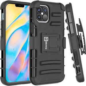Apple iPhone 12 Pro Max Holster Case - Hybrid Case with Belt Clip - Explorer Series