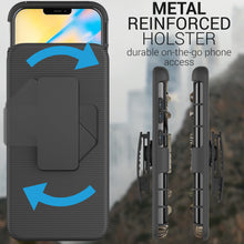 Load image into Gallery viewer, Apple iPhone 12 / iPhone 12 Pro Holster Case - Hybrid Case with Belt Clip - Explorer Series