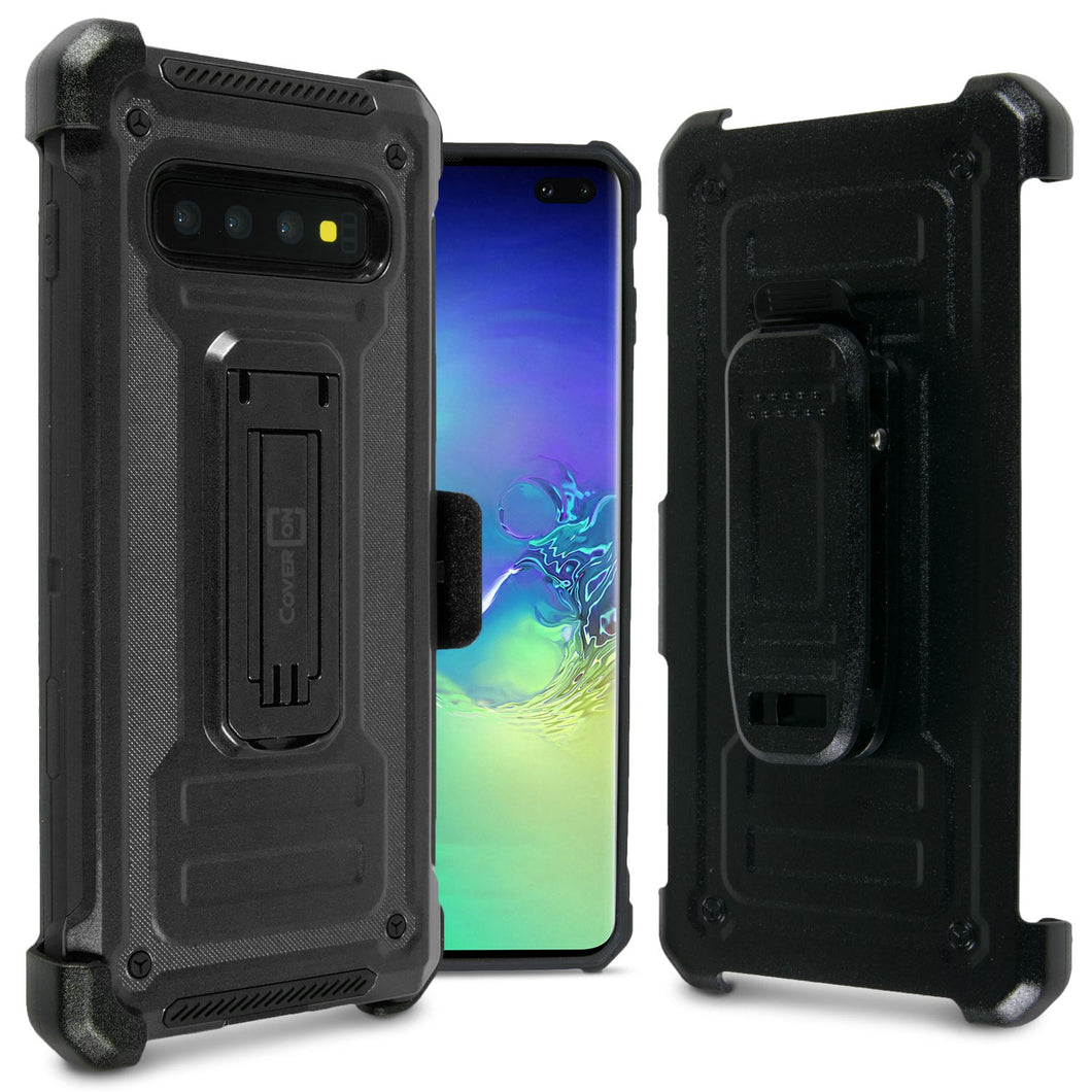 Samsung Galaxy S10 Plus Holster Case Spectra Series Protective Kickstand Phone Cover with Rotating Belt Clip
