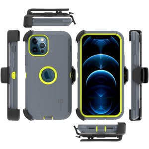 Apple iPhone 12 Pro Max Holster Case - Heavy Duty Shockproof Case with Belt Clip