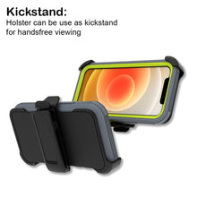 Load image into Gallery viewer, Apple iPhone 12 Mini Holster Case - Heavy Duty Shockproof Case with Belt Clip