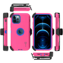 Load image into Gallery viewer, Apple iPhone 12 / iPhone 12 Pro Holster Case - Heavy Duty Shockproof Case with Belt Clip