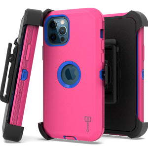 Apple iPhone 12 / iPhone 12 Pro Holster Case - Heavy Duty Shockproof Case with Belt Clip