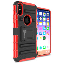 Load image into Gallery viewer, iPhone XS / iPhone X Holster Case - Hybrid Case with Belt Clip - Explorer Series