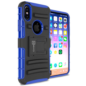 iPhone XS / iPhone X Holster Case - Hybrid Case with Belt Clip - Explorer Series