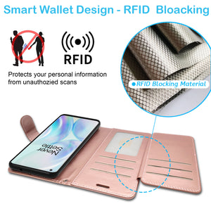 Samsung Galaxy A01 (US Version) Wallet Case - RFID Blocking Leather Folio Phone Pouch - CarryALL Series