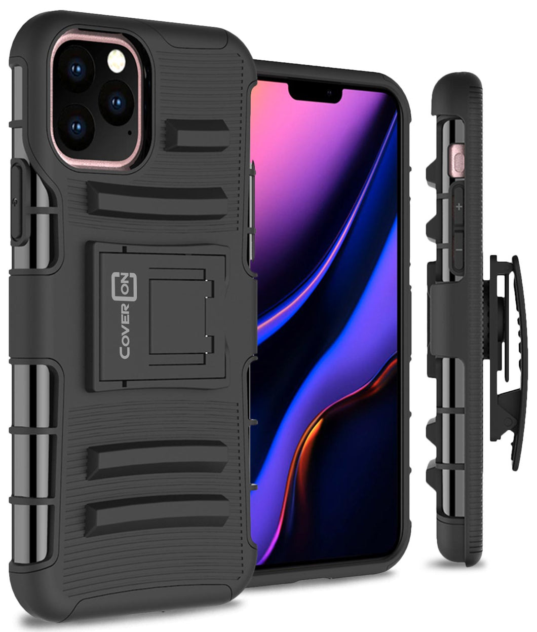 iPhone 11 Pro Max Holster Case - Hybrid Case with Belt Clip - Explorer Series