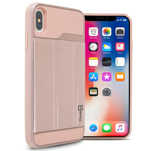 Apple iPhone XS Max Case with Card Holder Slot and Folio Kickstand Phone Cover