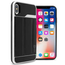 Load image into Gallery viewer, Apple iPhone XS Max Case with Card Holder Slot and Folio Kickstand Phone Cover