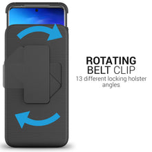 Load image into Gallery viewer, Samsung Galaxy S20 Ultra Holster Case - Hybrid Case with Belt Clip - Explorer Series