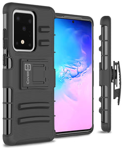 Samsung Galaxy S20 Ultra Holster Case - Hybrid Case with Belt Clip - Explorer Series