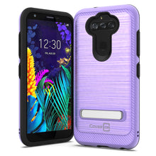 Load image into Gallery viewer, LG Tribute Monarch / Risio 4 / K8x Case - Metal Kickstand Hybrid Phone Cover - SleekStand Series