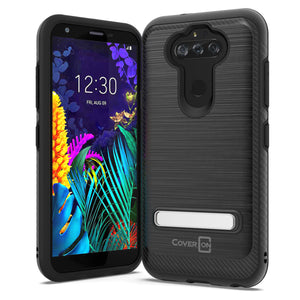 LG Tribute Monarch / Risio 4 / K8x Case - Metal Kickstand Hybrid Phone Cover - SleekStand Series