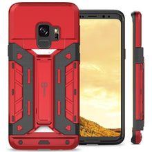 Load image into Gallery viewer, Samsung Galaxy S9 Kickstand Credit Card Holder SlideCard Case