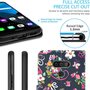 LG Harmony 4 / Premier Pro Plus / Xpression Plus 3 Wallet Case - RFID Blocking Leather Folio Phone Pouch - CarryALL Series