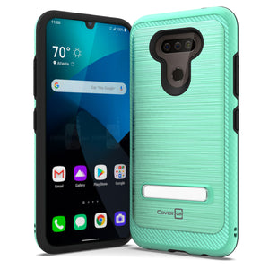 LG Harmony 4 / Premier Pro Plus / Xpression Plus 3 Case - Metal Kickstand Hybrid Phone Cover - SleekStand Series