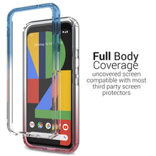 Load image into Gallery viewer, Google Pixel 4 Clear Case Full Body Colorful Phone Cover - Gradient Series