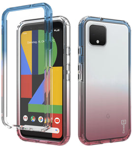 Google Pixel 4 Clear Case Full Body Colorful Phone Cover - Gradient Series