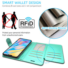 Load image into Gallery viewer, Apple iPhone 12 Pro / iPhone 12 Max Wallet Case - RFID Blocking Leather Folio Phone Pouch - CarryALL Series