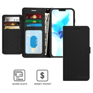 Apple iPhone 12 Pro Max Wallet Case - RFID Blocking Leather Folio Phone Pouch - CarryALL Series