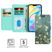 Load image into Gallery viewer, Apple iPhone 12 Wallet Case - RFID Blocking Leather Folio Phone Pouch - CarryALL Series