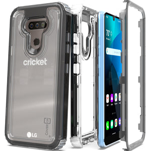 LG Harmony 4 / Premier Pro Plus / Xpression Plus 3 Clear Case - Full Body Tough Military Grade Shockproof Phone Cover