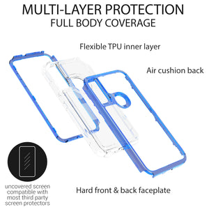 Motorola Moto E (2020) Clear Case - Full Body Tough Military Grade Shockproof Phone Cover