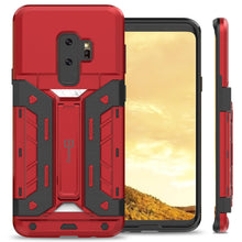 Load image into Gallery viewer, Samsung Galaxy S9 Plus Kickstand Credit Card Holder SlideCard Case