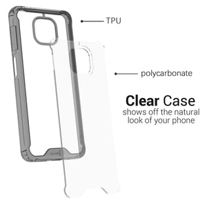 Motorola Moto G Power 2021 Clear Case Hard Slim Protective Phone Cover - Pure View Series