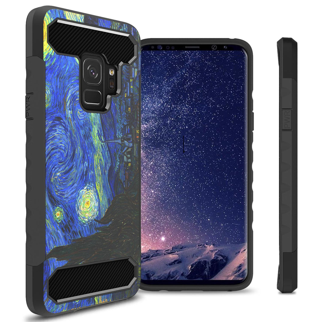 Samsung Galaxy S9 Case - Hybrid Phone Cover with Carbon Fiber Accents - Arc Series
