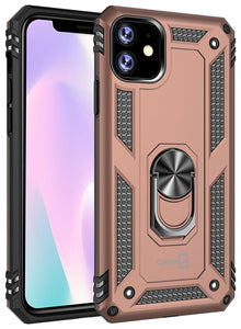 iPhone 11 Case with Metal Ring Kickstand - Resistor Series