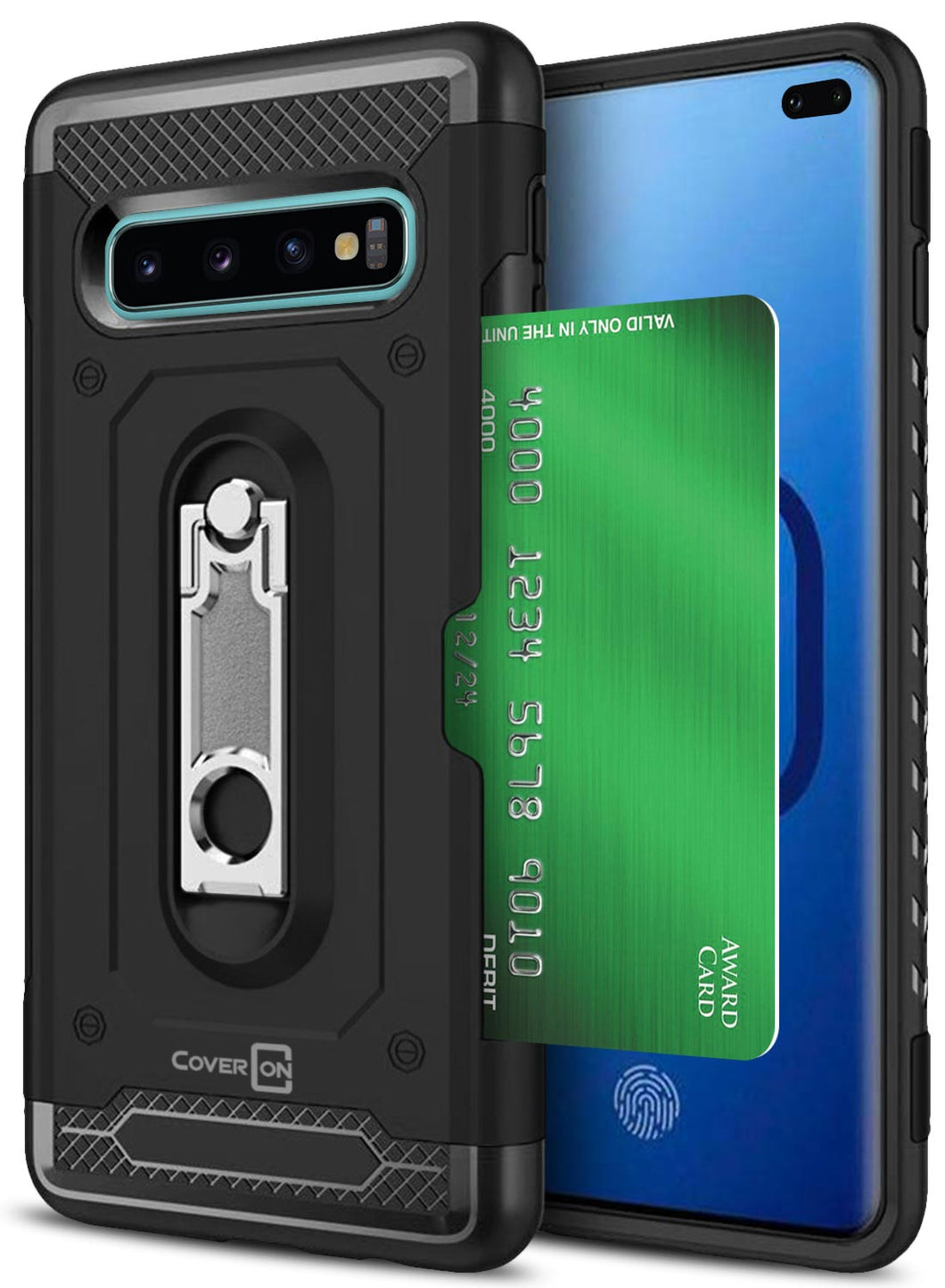 Samsung Galaxy S10 Plus Kickstand Case with Card Holder - Zipp Series