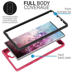 Samsung Galaxy Note 10 Plus / Galaxy Note 10 Plus 5G Case - Heavy Duty Full Body Shockproof Clear Phone Cover - EOS Series