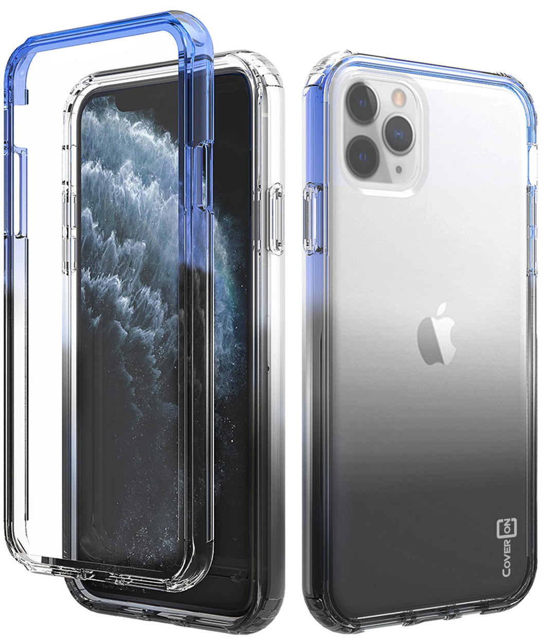 iPhone 11 Pro Clear Case - Full Body Colorful Phone Cover - Gradient Series