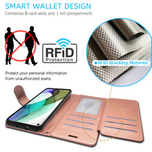 Load image into Gallery viewer, Motorola Moto G Stylus 2021 Wallet Case - RFID Blocking Leather Folio Phone Pouch - CarryALL Series
